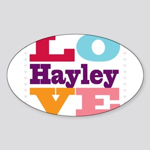 I Love Hayley Sticker (Oval)