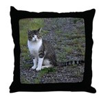 Purr-fectly Posed Throw Pillow