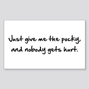 Just Give Me The Pocky Sticker (Rectangle 10 pk)