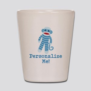 Baby Blue Sock Monkey Shot Glass