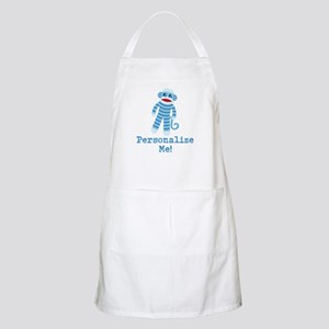 Baby Blue Sock Monkey Apron