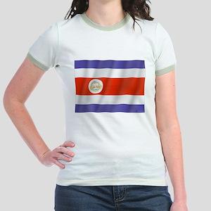 Pure Flag Costa Rica Jr. Ringer T-Shirt