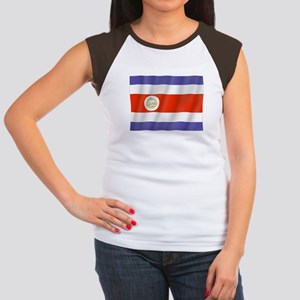 Pure Flag Costa Rica Women's Cap Sleeve T-Shirt