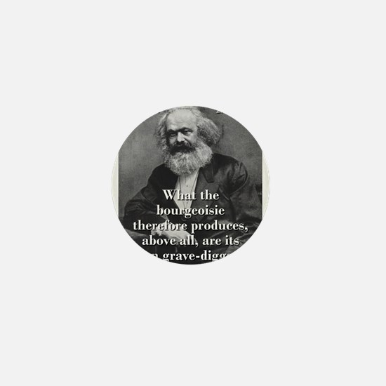 What The Bourgeoisie - Karl Marx Mini Button