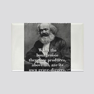What The Bourgeoisie - Karl Marx Magnets