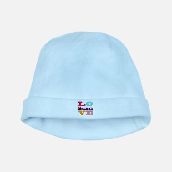 I Love Hannah baby hat