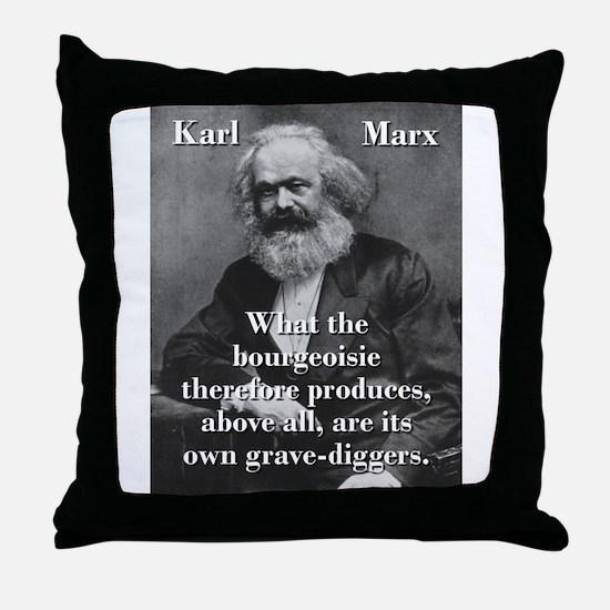 What The Bourgeoisie - Karl Marx Throw Pillow