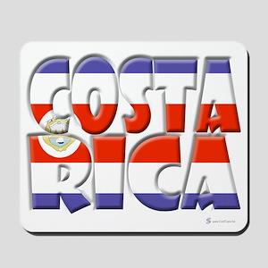 Word Art Flag Costa Rica Mousepad