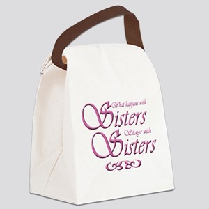 Sisters in Pink Canvas Lunch Bag