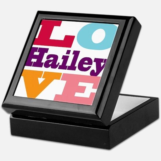 I Love Hailey Keepsake Box