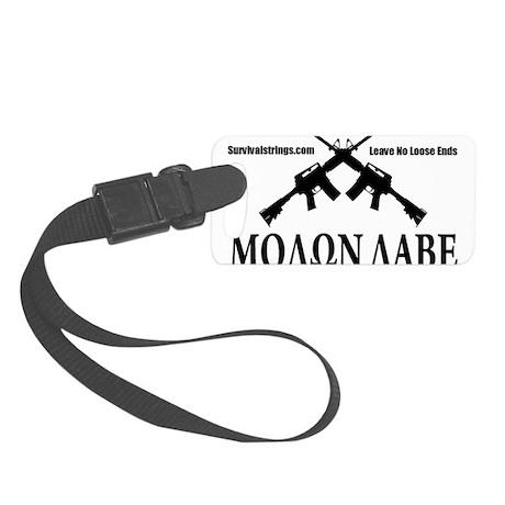 Survival Strings Molon Labe Small Luggage Tag