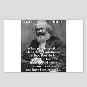 When People Speak Of Ideas - Karl Marx Postcards (