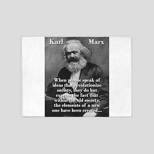 When People Speak Of Ideas - Karl Marx 5'x7'Area R