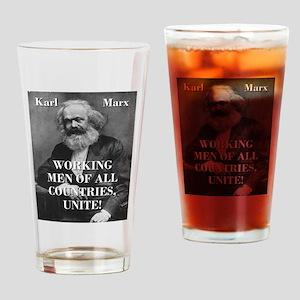 Working Men - Karl Marx Drinking Glass