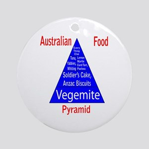Australian Food Pyramid Ornament (Round)