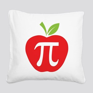Apple Pi Square Canvas Pillow