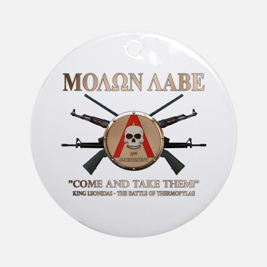 Molon Labe - Spartan Shield Ornament (Round)