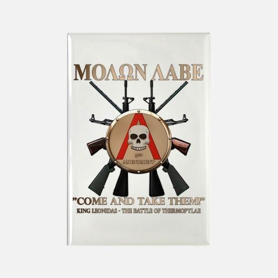 Molon Labe - Spartan Shield Rectangle Magnet