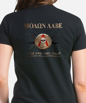 Molon Labe - Spartan Shield Women's Dark T-Shirt