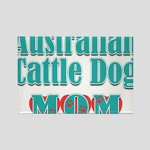 Australian Cattle Dog Mom Hearts Rectangle Magnet