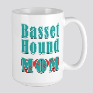Basset Hound Mom Hearts Large Mug