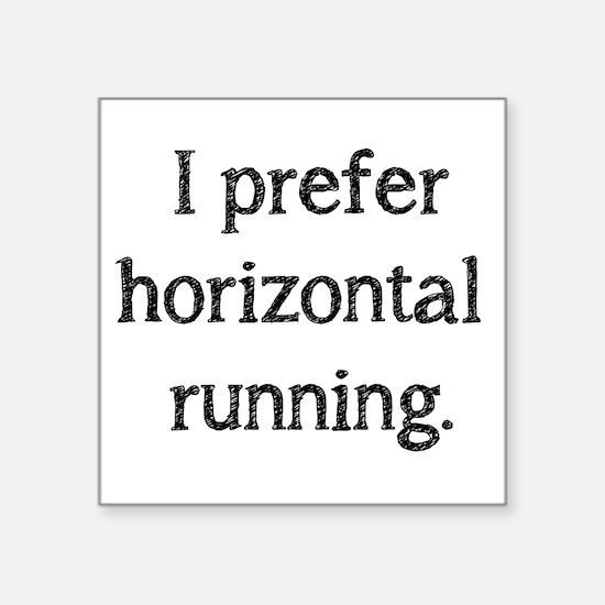 """Horizontal Running Square Sticker 3"""" x 3"""""""