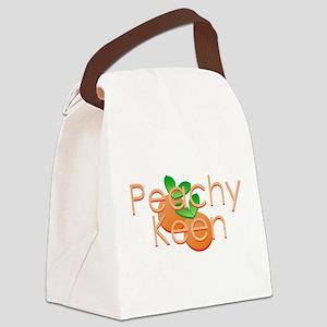 Peachy Keen Canvas Lunch Bag