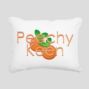 Peachy Keen Rectangular Canvas Pillow