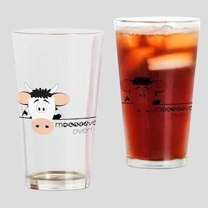 Mooooove Over Drinking Glass