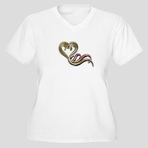 Diamond Love Women's Plus Size V-Neck T-Shirt