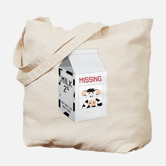 Milk Carton Tote Bag