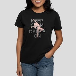 Modern Keep Calm and Dance On Women's Dark T-Shirt
