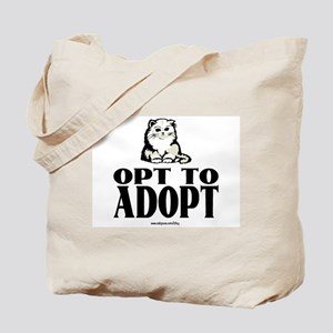 Opt To Adopt (cat) Tote Bag