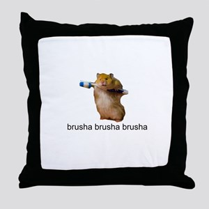 cute baby hamster brush your teeth - brusha brusha