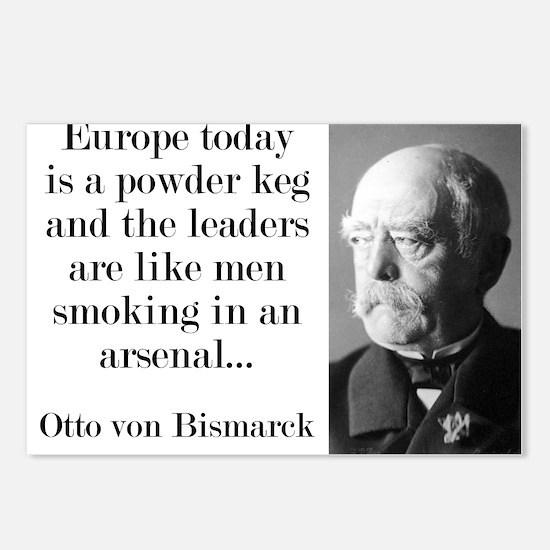 Europe Today Is A Powder Keg - Bismarck Postcards