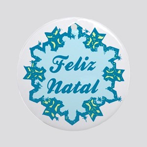 Feliz Natal Ceramic Ornament