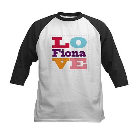 I Love Fiona Kids Baseball Jersey