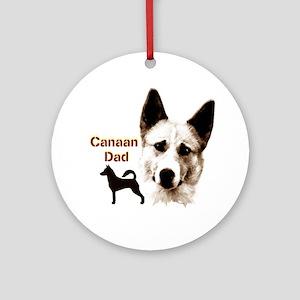 canaan dog dad Ornament (Round)