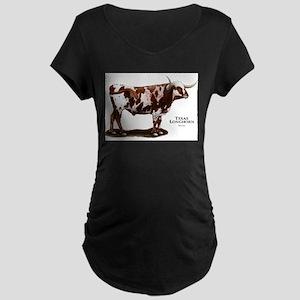 Texas Longhorn Maternity Dark T-Shirt