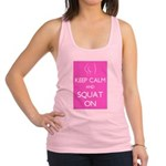 Keep cam and squat on Racerback Tank Top