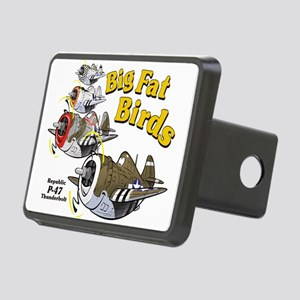 p-47 thunderbolt formation Rectangular Hitch Cover