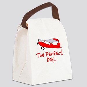 Red Airplane Canvas Lunch Bag