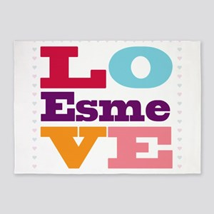 I Love Esme 5'x7'Area Rug