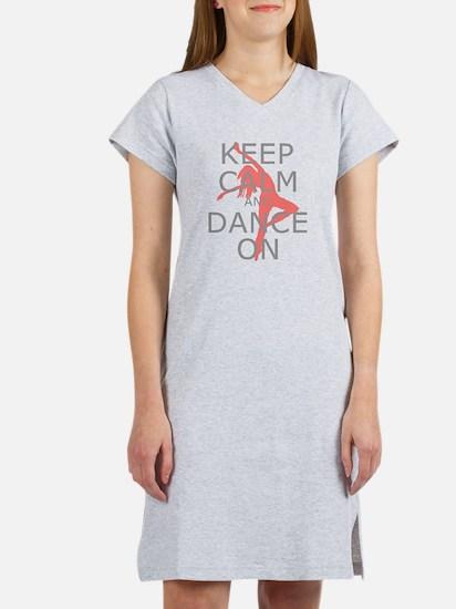 Modern Keep Calm and Dance On Women's Nightshirt