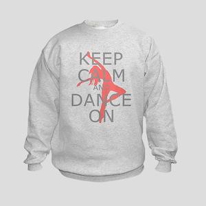 Modern Keep Calm and Dance On Kids Sweatshirt