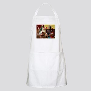 Santa and his Airedale Apron