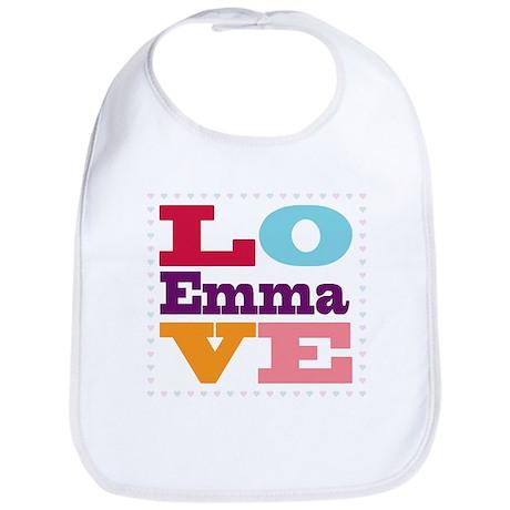 I Love Emma Bib