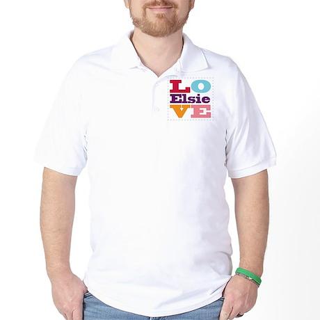 I Love Elsie Golf Shirt