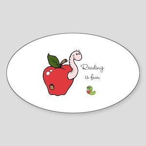 Reading is fun/ Sticker (Oval)