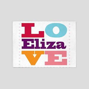 I Love Eliza 5'x7'Area Rug